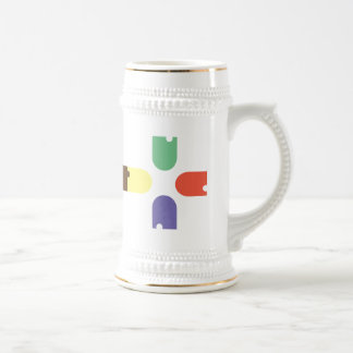 Colour Beer Stein
