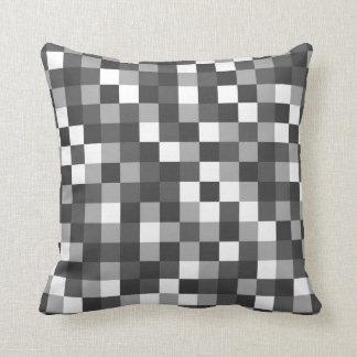 Colour Block Black and White Throw Pillow