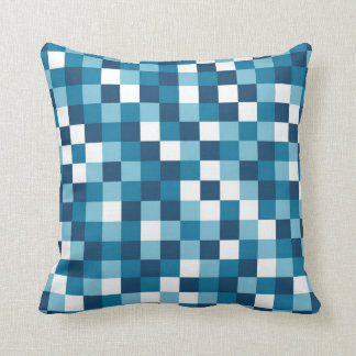 Colour Block Blue Pillows
