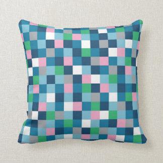 Colour Block Blue, Pink, Green Pillow
