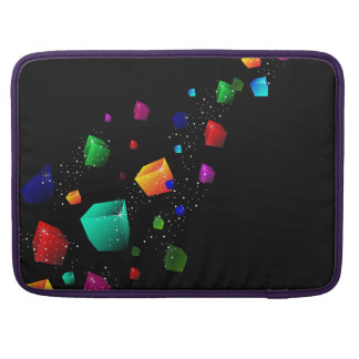 Colour Blocks on Black Laptop Sleeve