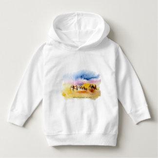 Colour burst elephant herd design hoodie