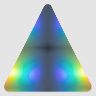 Colour Chaos abstract. Triangle Sticker