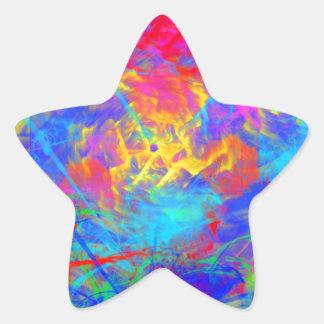 Colour Chaos Star Sticker