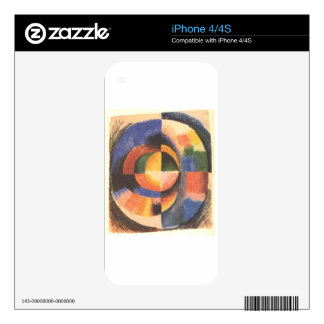 Colour circle by August Macke Decals For iPhone 4