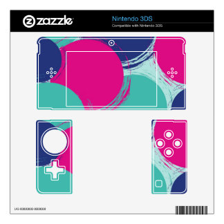 Colour Circle Pattern Decal For The 3DS
