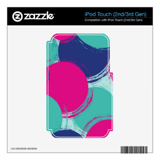 Colour Circle Pattern Decals For iPod Touch 3G