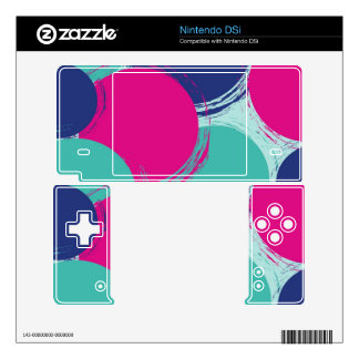 Colour Circle Pattern DSi Skin