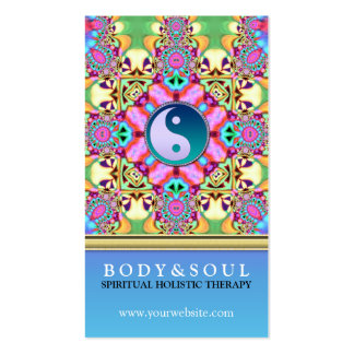 Colour Energy YinYang New Age Business Cards