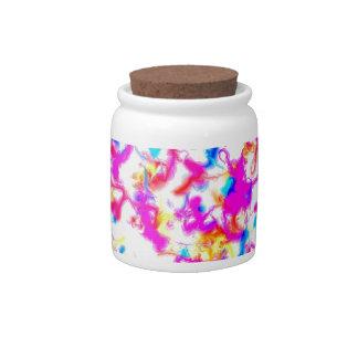 Colour explosion candy jars
