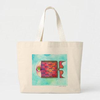 colour fish tote bags