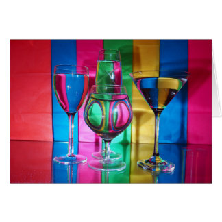 Colour Glass Greeting Card
