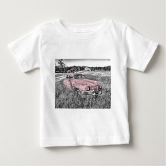Colour Isolated Vintage Car in Field Baby T-Shirt