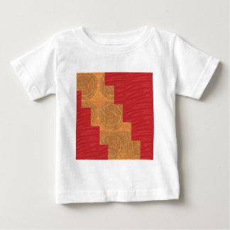 Colour joy,GOLD CIRCLES UNIQUE RED SILKEN BASE Infant T-shirt