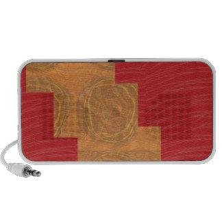 Colour joy,GOLD CIRCLES UNIQUE RED SILKEN BASE Laptop Speaker