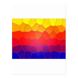 Colour mosaic tiles postcard