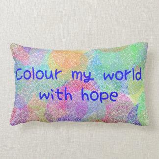 Colour My World with Hope Lumbar Pillow