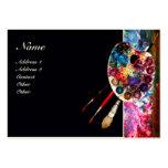 COLOUR PALETTE 2 MONOGRAM Painter,Artist Fine Art Large Business Cards (Pack Of 100)