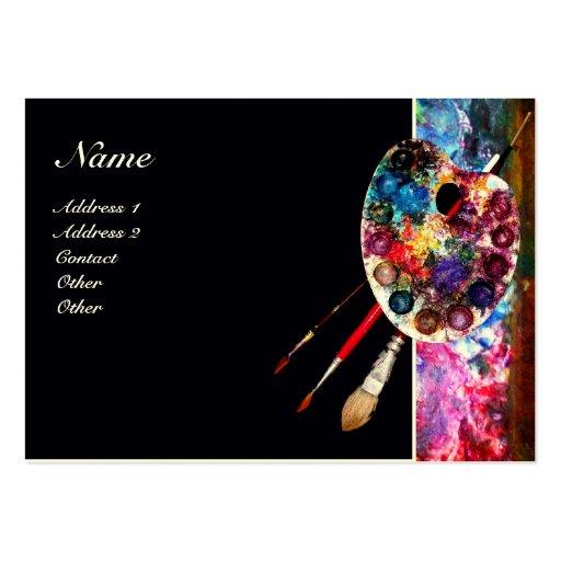 COLOUR PALETTE 2/ Painter, Artist , Art Materials Large Business Cards (Pack Of 100)