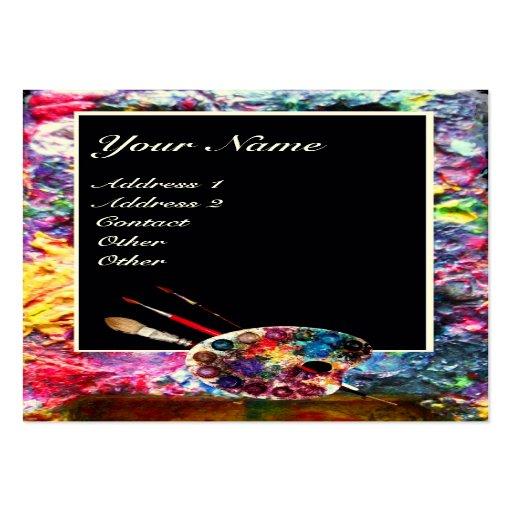 Colour palette 2 painterartistfine art materials large for Painting artist business cards