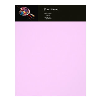 COLOUR PALETTE , black and pink Letterhead