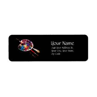 COLOUR PALETTE ,black Custom Return Address Labels