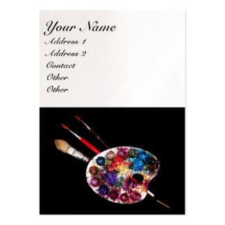 COLOUR PALETTE black white pearl paper Business Card Templates