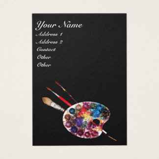 COLOUR PALETTE/ Painter, Artist,Fine Art Materials Business Card