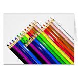 colour pencil crayons card