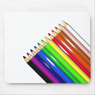 colour pencil crayons mousepad