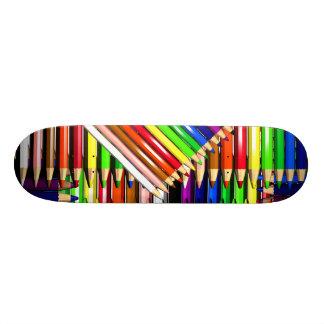 colour pencil crayons skate board deck