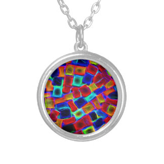 colour riot round pendant necklace