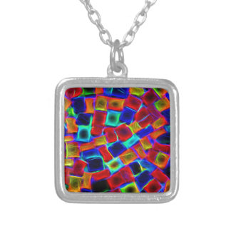 colour riot square pendant necklace