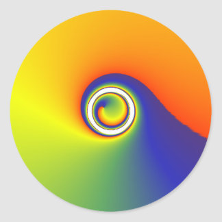 colour spin round sticker