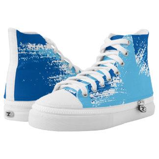 Colour Splash Blue Tones High Top Sneakers