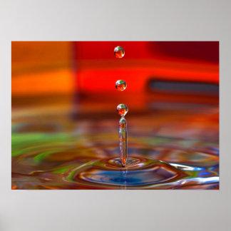 Colour splash canvus print picture