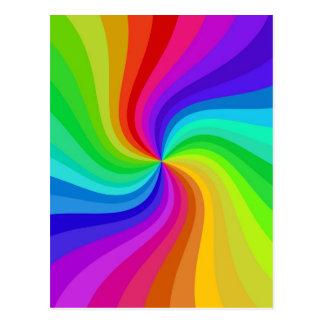 colour twisted postcard