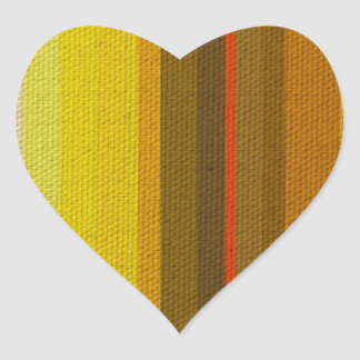 Colour Variation Heart Sticker