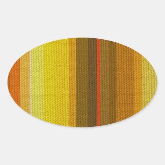 Colour Variation Oval Sticker