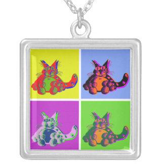 ColourCats Square Pendant Necklace
