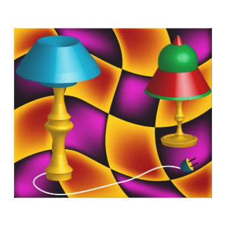 Coloured Abstract Lamps Stretched Canvas Print