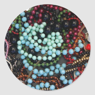 Coloured beads classic round sticker