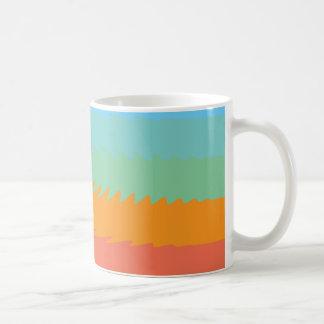 Coloured Blue, Green, Orange Ripple Effect Mug