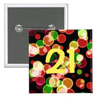 Coloured Bubbles 2 Inch Square Button