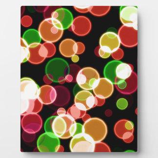 Coloured Bubbles Photo Plaques