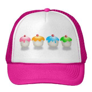 Coloured Buns Mesh Hats