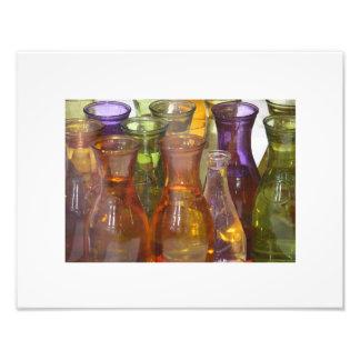 Coloured carafes photo print