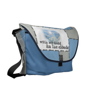 coloured case: head in the clouds messenger bag