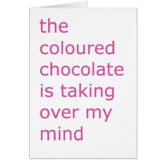 coloured chocolate card