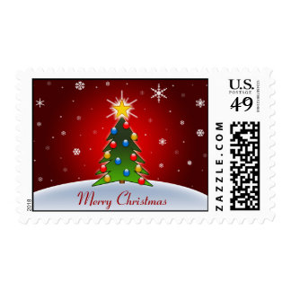 Coloured Christmas Tree, Stamp